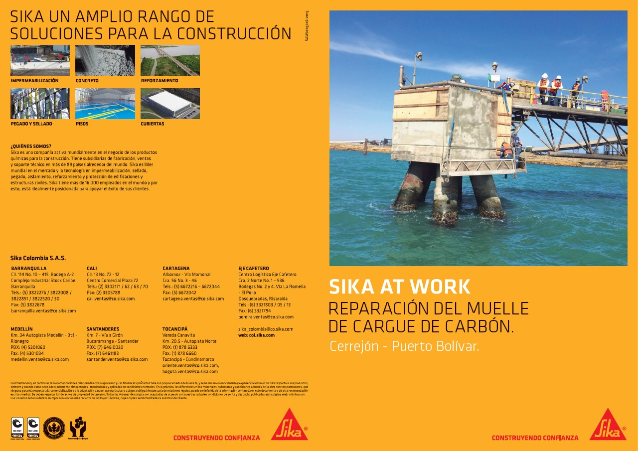 Sika At Work - Muelle Cargue de Carbón Cerrejón